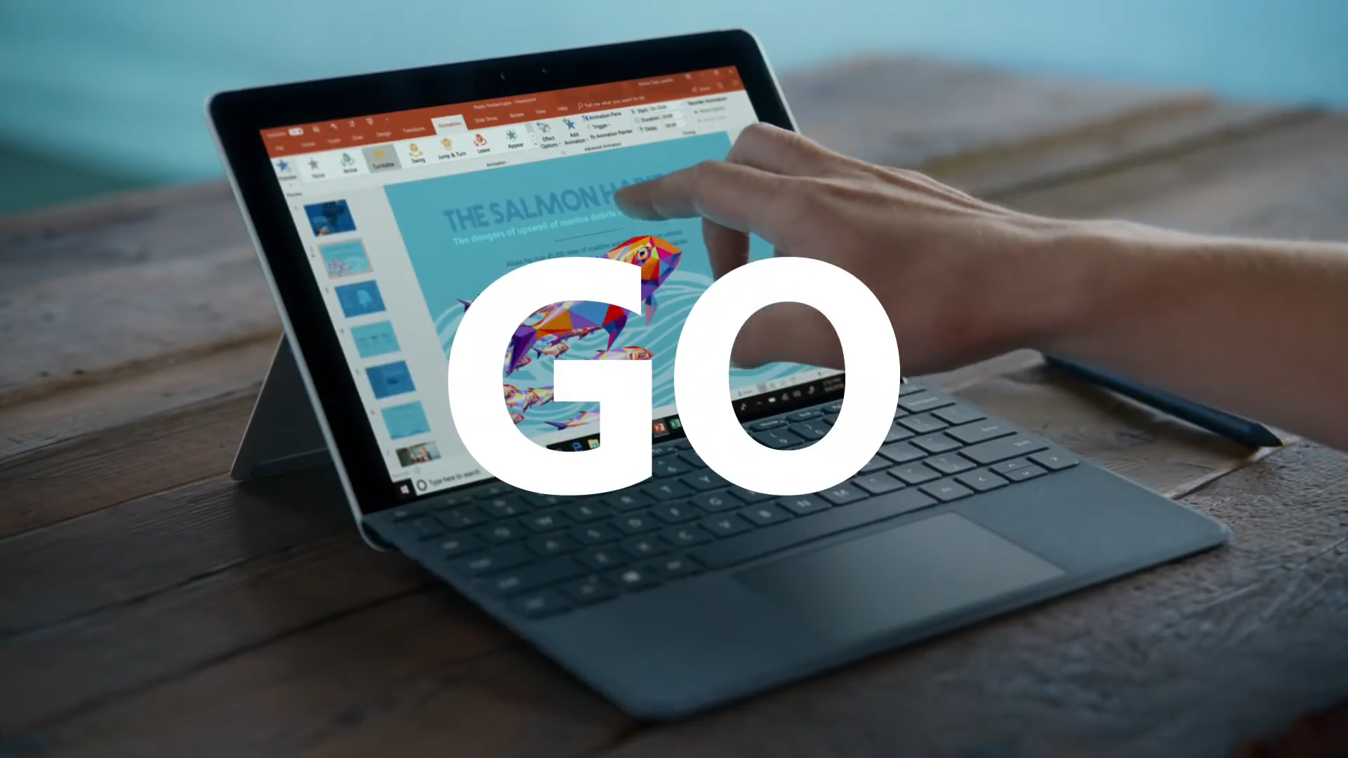 The new Microsoft Surface Go and the Salmon Sisters