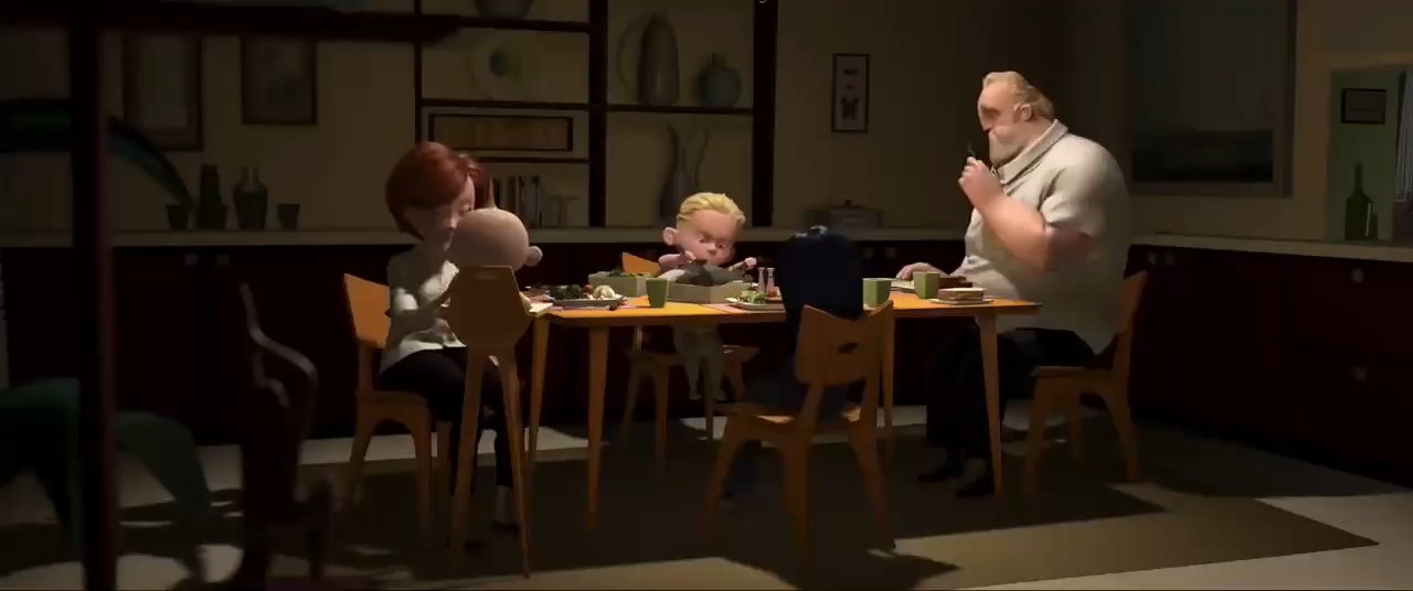 [1] The Incredibles: Family dinner