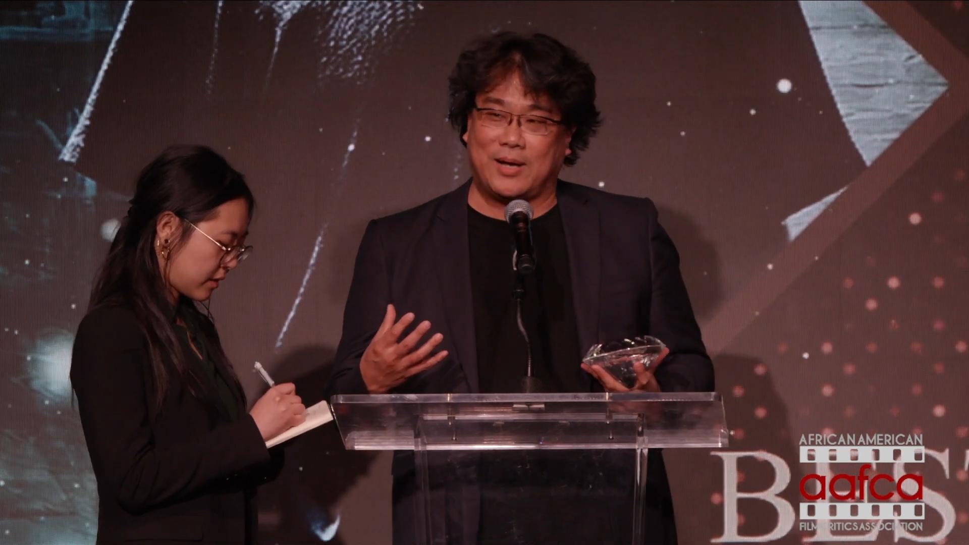 Bong Joon Ho AAFCA Award Acceptance Speech