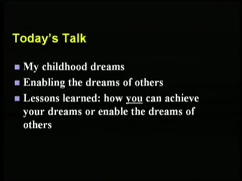 [2] Randy Pausch Last Lecture: Achieving Your Childhood Dreams