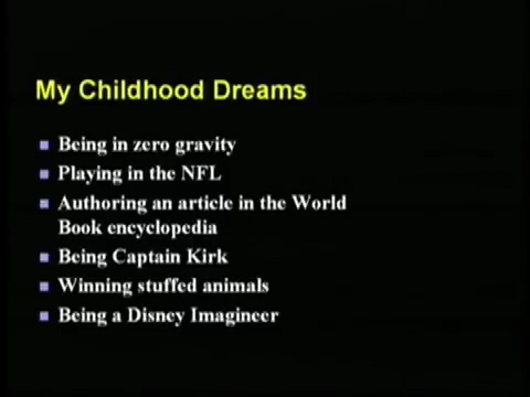[3] Randy Pausch Last Lecture: Achieving Your Childhood Dreams