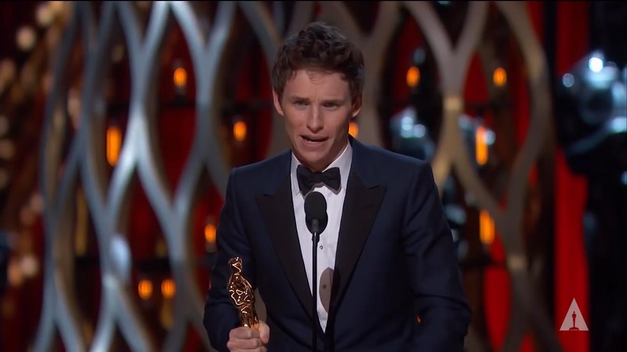 [2] Eddie Redmayne winning Best Actor