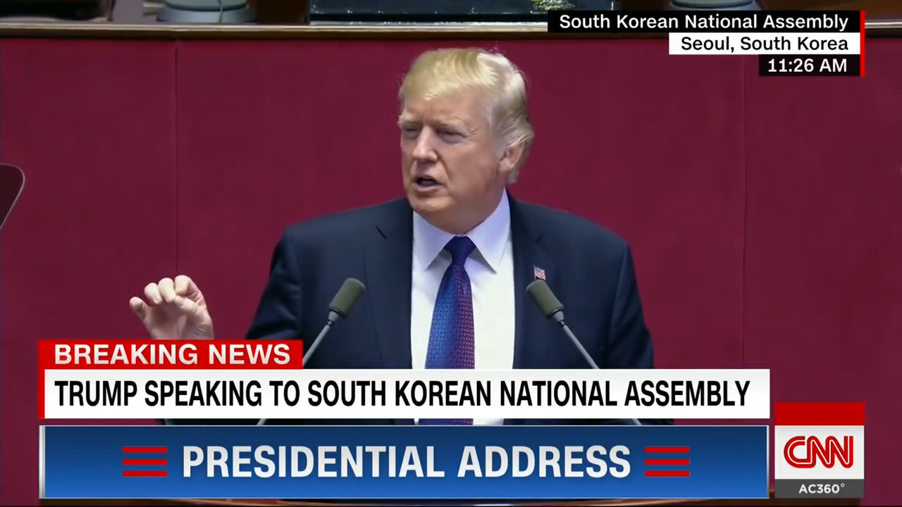 [1] Trump's speech to South Korea's parliament