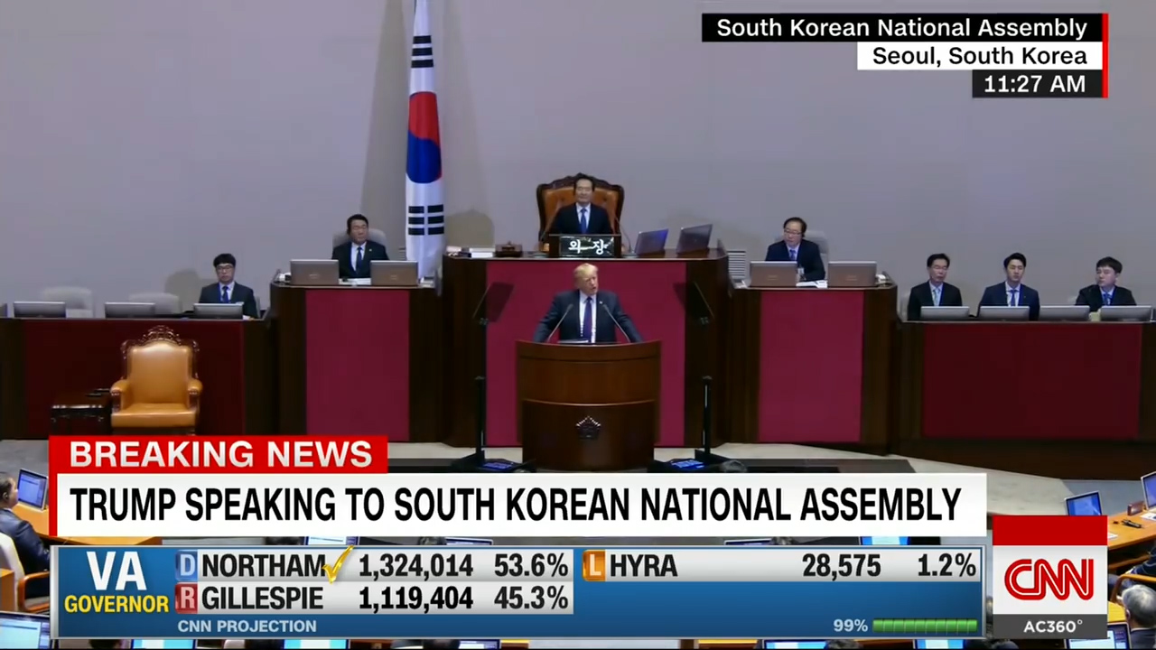 [2] Trump's speech to South Korea's parliament